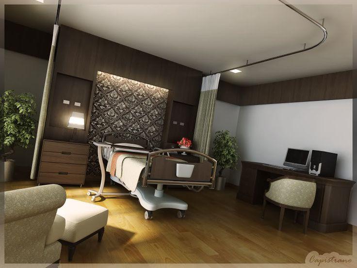 LifeLine Hospital Patient Room, Abu Dhabi. #officedecor interior #architecture