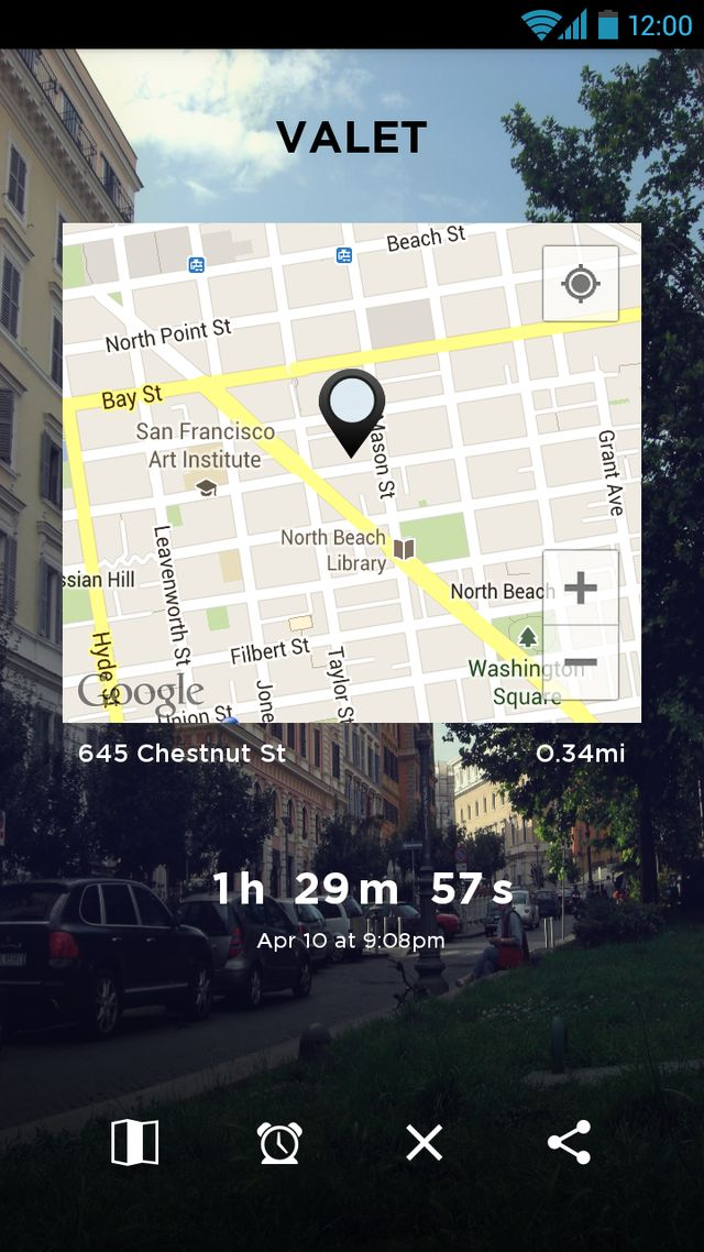 Valet, An Android App That Helps You Remember Where You Parked