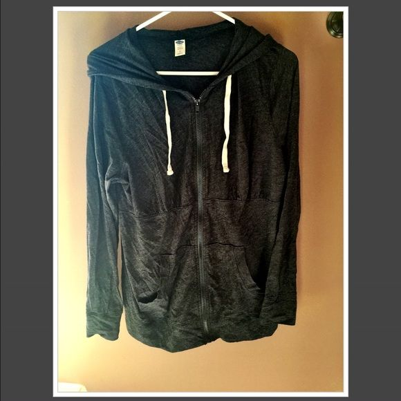 Lightweight maternity zip up Gray lightweight maternity activewear zip up. Old Navy Tops
