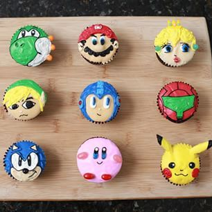 Super Smash Bros Cupcakes | 24 Video Game-Inspired Desserts That Are Almost Too Awesome To Eat