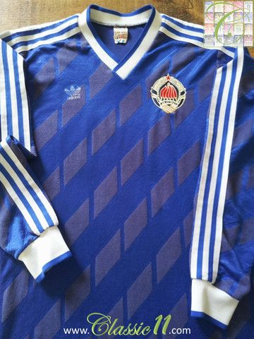 Relive Yugoslavia's 1987/1988 international season with this vintage Adidas home long sleeve football shirt.
