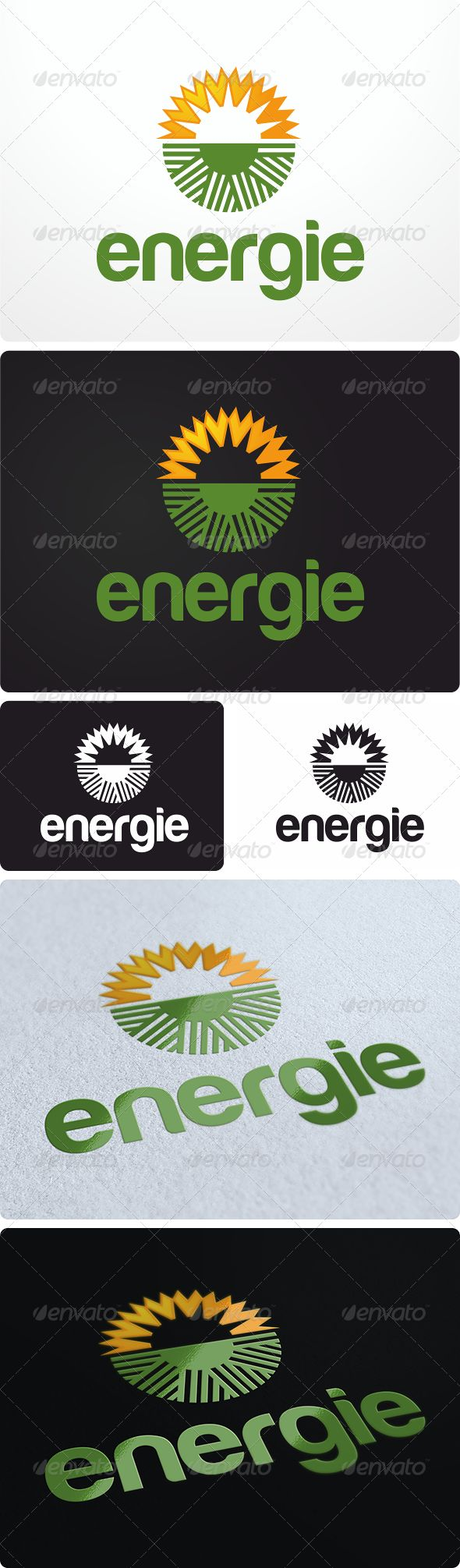 Clean Energy Logo Design  #GraphicRiver         Amazing solar, clean energy or agricultural logo design. Again, suitable for multiple industries.
