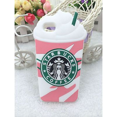 NEW LUXE COQUE iPhone 4 5 S C 6 + Plus Samsung 3D STARBUCKS S4 5 Ice Cream CASE