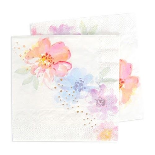 Let's Party With Balloons - Floral Luncheon Paper Napkins | Illume Design, $15.00 (http://www.letspartywithballoons.com.au/floral-luncheon-paper-napkins-illume-design/)