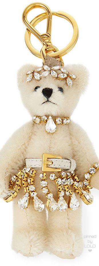 Prada Renne Plush Teddy Bear Charm   LOLO❤︎