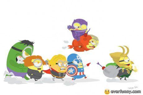 minions + avengers= funny