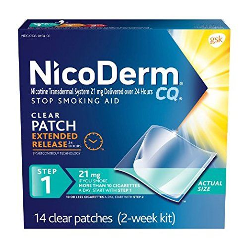 NicoDerm CQ Stop Smoking Aid 21 milligram Clear Nicotine Patches for Quitting Smoking Step 1 Quantity 4Pack 21 Patches Each * Want to know more, click on the image.