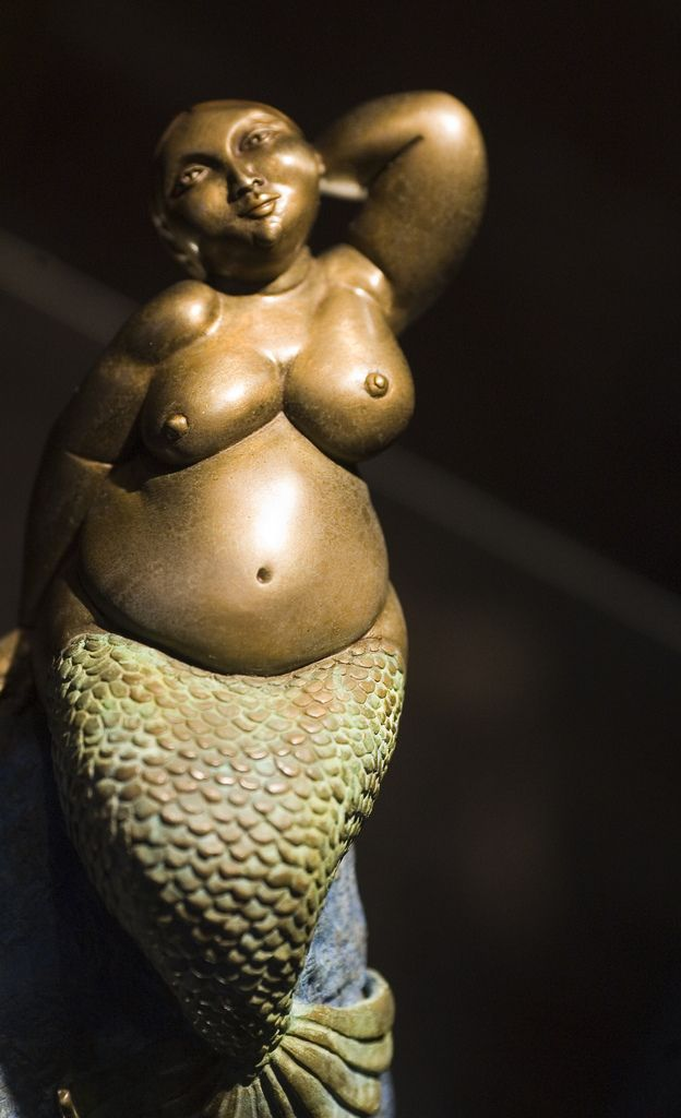 "Yuussss! I love you, fat mermaid! sailorgil: "" Bronze Mermaid Sculpture """