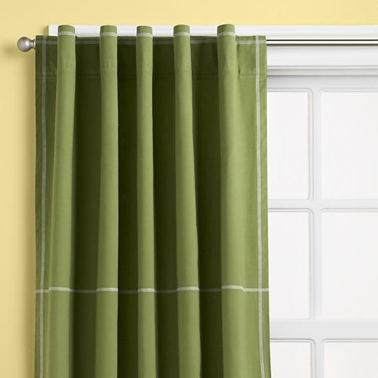 The Land of Nod | Kids Curtains: Kids Green Canvas Curtain Panels ...