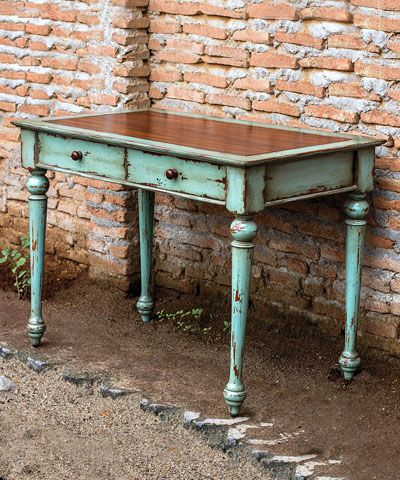 Axelle Writing Desk. I love the color and rustic feel!