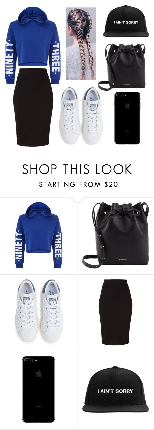 """I ain't sorry"" by rhianna-alexandre on Polyvore featuring New Look, Mansur Gavriel, adidas and Winser London"