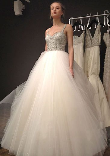 135 best images about lazaro wedding dresses on pinterest for How much is a lazaro wedding dress