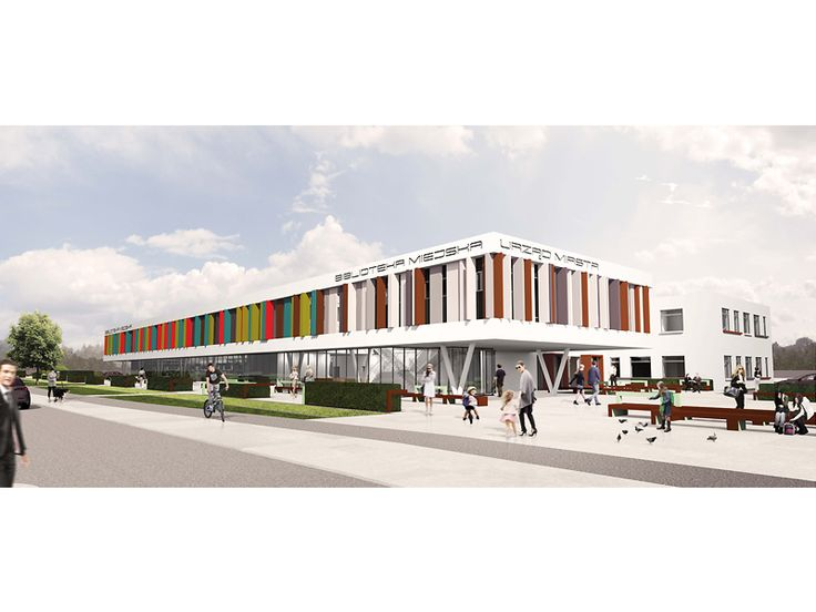 Public Library  Colorful Spring FAAB proposal for park, library and municipality in Czechowice-Dziedzice-southern Poland. The main task was to draw attention away from shopping mall which is nearby while still respecting the investment budget.