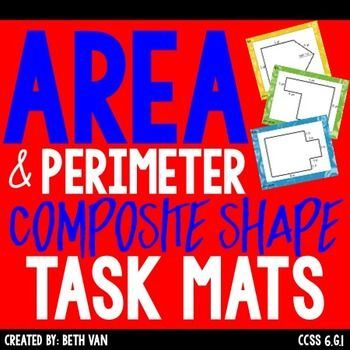 Help students get the big picture of how to decompose complex shapes with these work mats! Simply print and go!When working with area and perimeter it's important that students know how to break down a complex shape into squares, rectangles, right triangles to find the area.