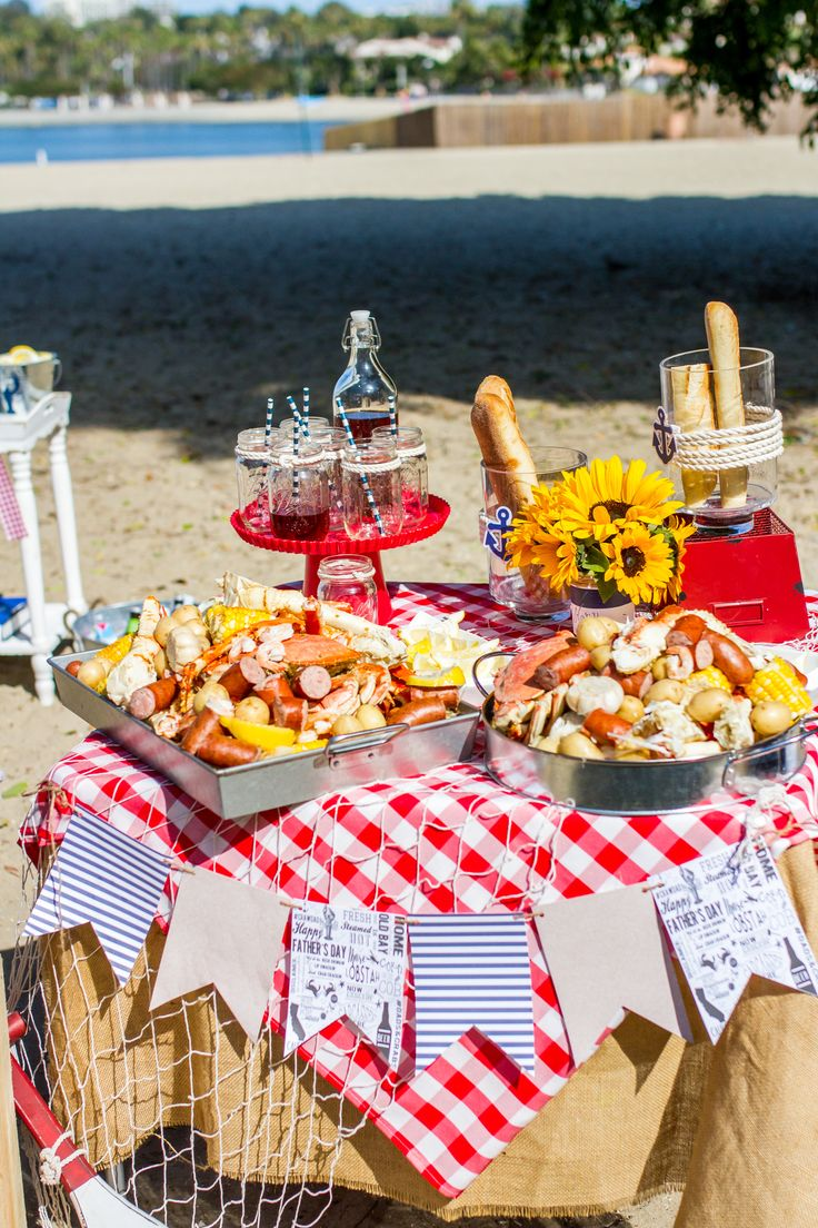 Crab Boil Party, food table- Just a little Sparkle