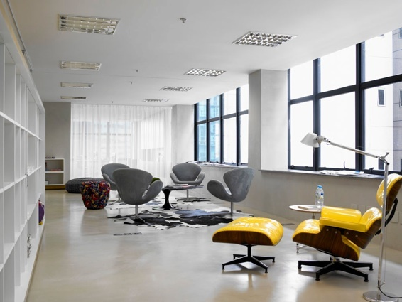 Claudia Haguiara has a very cool portfolio full of modern interiors  Yellow  ChairsModern  41 best The Eames Lounge Chair images on Pinterest   Eames lounge  . Modern Yellow Lounge Chair. Home Design Ideas