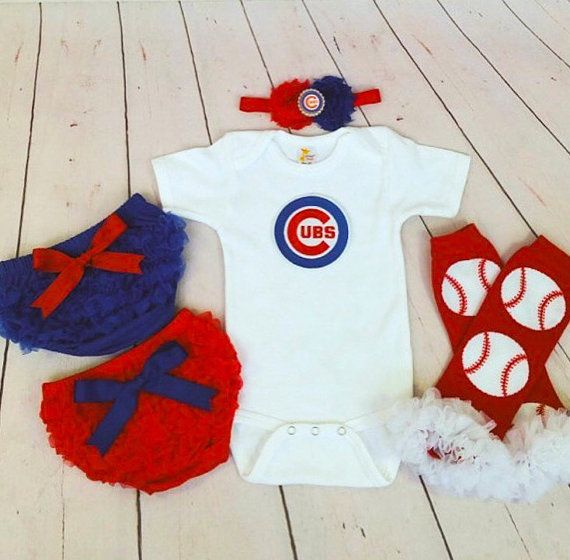 Chicago Cubs baby outfit Cubs baby girl by cupcakenstudmuffins