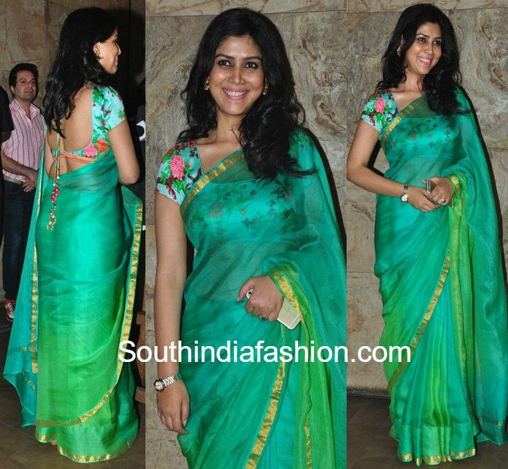 Sakshi Tanwar in a plain kota saree