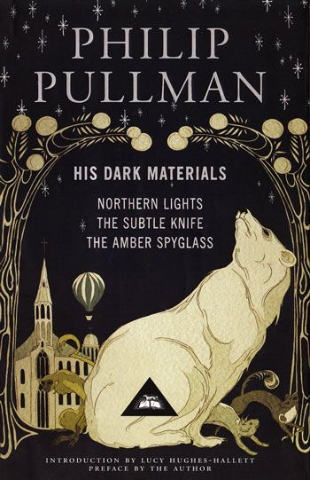'His Dark Materials', Philip Pullman's version of 'Paradise Lost'. Pullman ingeniously both retells and inverts John Milton's Paradise Lost, which relates the story of Adam and Eve and their fall from grace, as he constructs a society moving between worlds and attempting to find the source of Dust — something like self-awareness.