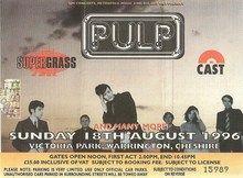 V Festival 1996 Ticket