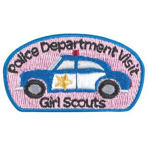 Official Girl Scout patch: police department visit