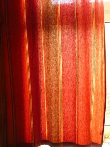 2-Vorhaenge-Schals-Rot-und-Terracotta-Schoener-indischer-Stoff