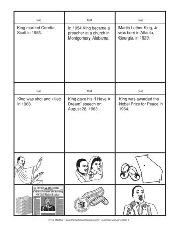 A Ready To Use Martin Luther King Jr Timeline Activity Martin