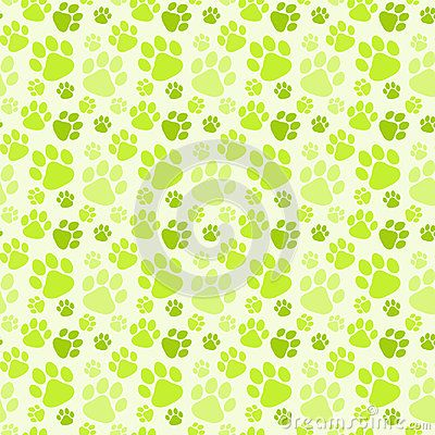 Green dog footprints seamless texture background. (C) Celia Ascenso 2017