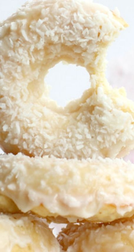 Baked Coconut Buttermilk Donuts with Ginger Glaze Recipe