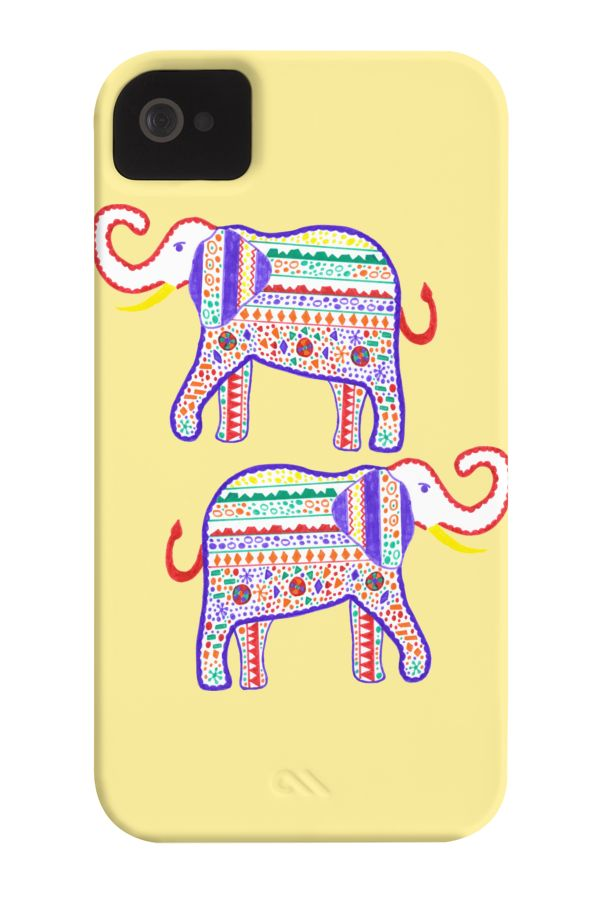 Elephant painted markers Phone Case for iPhone 4/4s,5/5s/5c, iPod Touch, Galaxy…