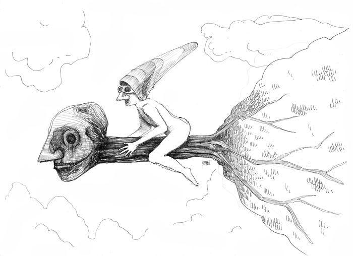 Viajando - Traveling - Federico Abuyé - Ilustración - Illustration - Arte - Arts