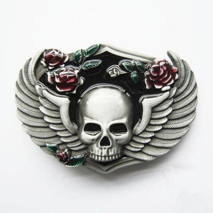 angel wings the skull devil belt buckles unique Red Rose eagle belt buckle Texas Western Buckle Retail company for 4cm belt