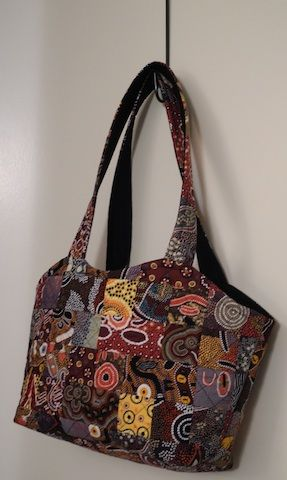A bag I made for a friend who was visiting from overseas - in Aboriginal fabrics; another Princess Bag - a style I love to make and love to use.