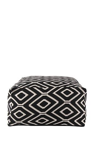"""Our jacquard geometric weave pouffe will provide the perfect finishing touch to any lounge setting. Filled with recycled polystyrene beads this pouffe provides comfort with ease of mobility.<div class=""""pdpDescContent""""><BR /><b class=""""pdpDesc"""">Dimensions:</b><BR />L60xW60xH35 cm<BR /><BR /><b class=""""pdpDesc"""">Fabric Content:</b><BR />100% Cotton<BR /><BR /><b class=""""pdpDesc"""">Wash Care:</b><BR>Spot clean only. Do not submerge in water</div>"""