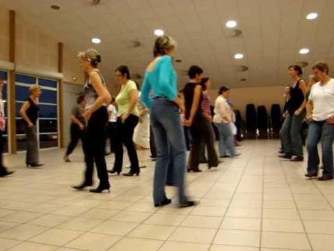 Electric Slide - Country line dance - Cours de débutants 2009/2010 - Sympa à regarder !