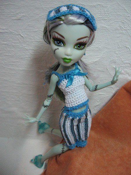 Описания вязаных изделий для кукол. | Monster High и другие. Платье для куклы.