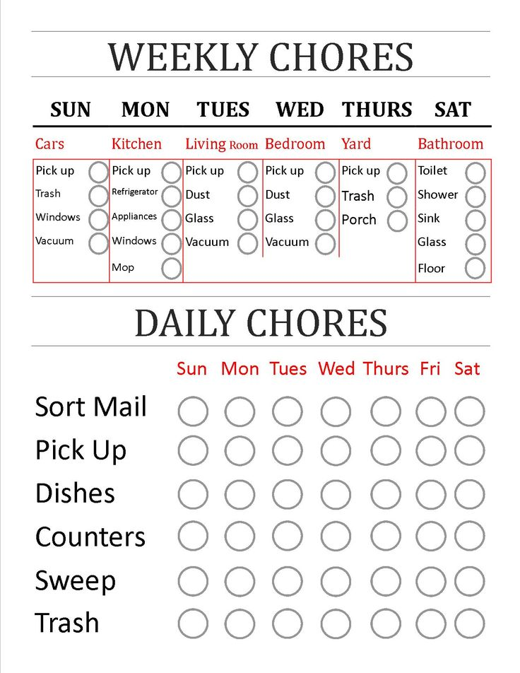 Made myself a Weekly & Daily Chores Check list!  I can share with anyone that wants to edit this to work for them and their home.