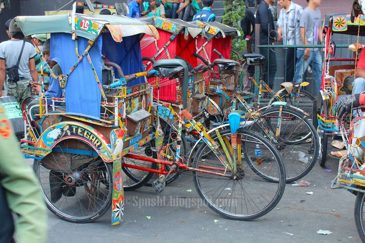 Spusht | colorful rickshaws in bandung, indonesia