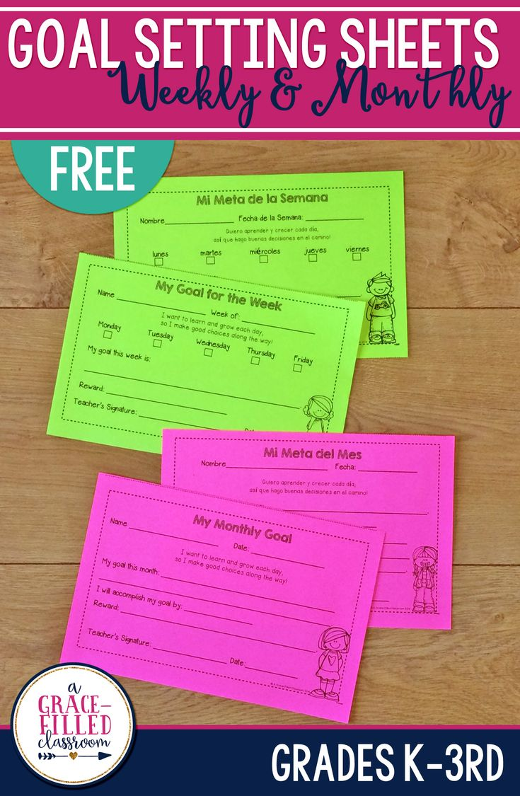 best student goal settings ideas goal setting  these goal sheets can be used weekly or monthly i use them to set individual goals my students in reading writing math and even behavior
