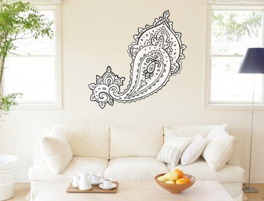 Wandtattoo ornament im orientalischen design orient wandtattoos pinterest orientalisches - Wandtattoo orientalisch ...