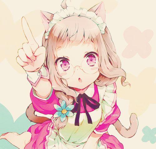Kawaii Pink Cat Anime Girls