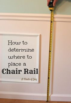 Determine chair rail placement according mathematical formulas used by the Ancient Greeks to determine the perfect number, perfect chord, and points of perfect balance.