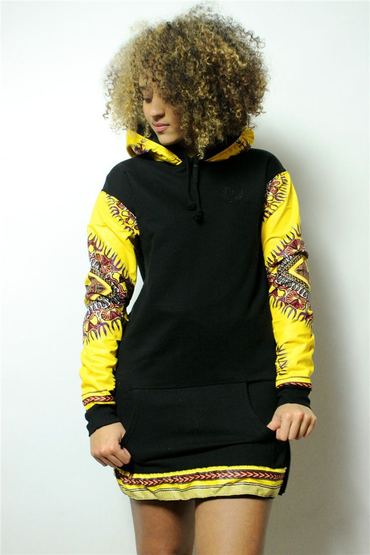 Black Long Sleeve Cotton Printed African Clothing