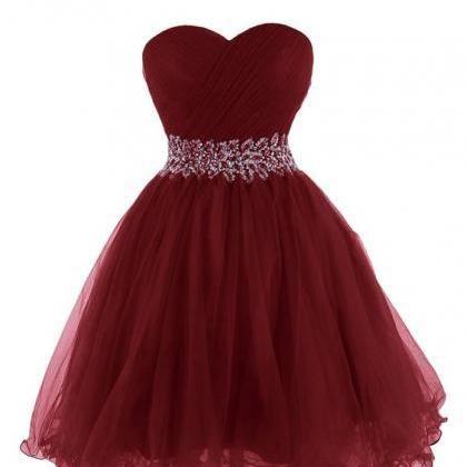 burgundy short prom dress, #shortpromdresses, #promdresses2017, #partydresses…