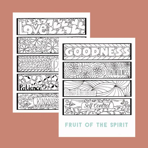 Color Your Own Bible Verse Bookmarks Christian