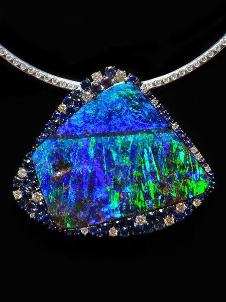 Image Detail for - DREAMTIME - Opal Pendants: Black Opal, Boulder Opal