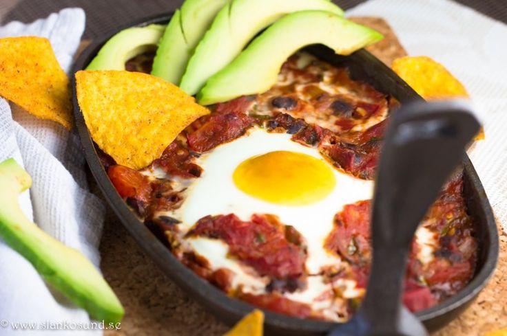 Mexican Baked Eggs : 6 SmartPoints #mexican #baked #eggs #smartpoints #slankosund #viktväktarrecept #recept #smårätter #mexikanskt #mekikanskarecept #mat #recepttips #recept