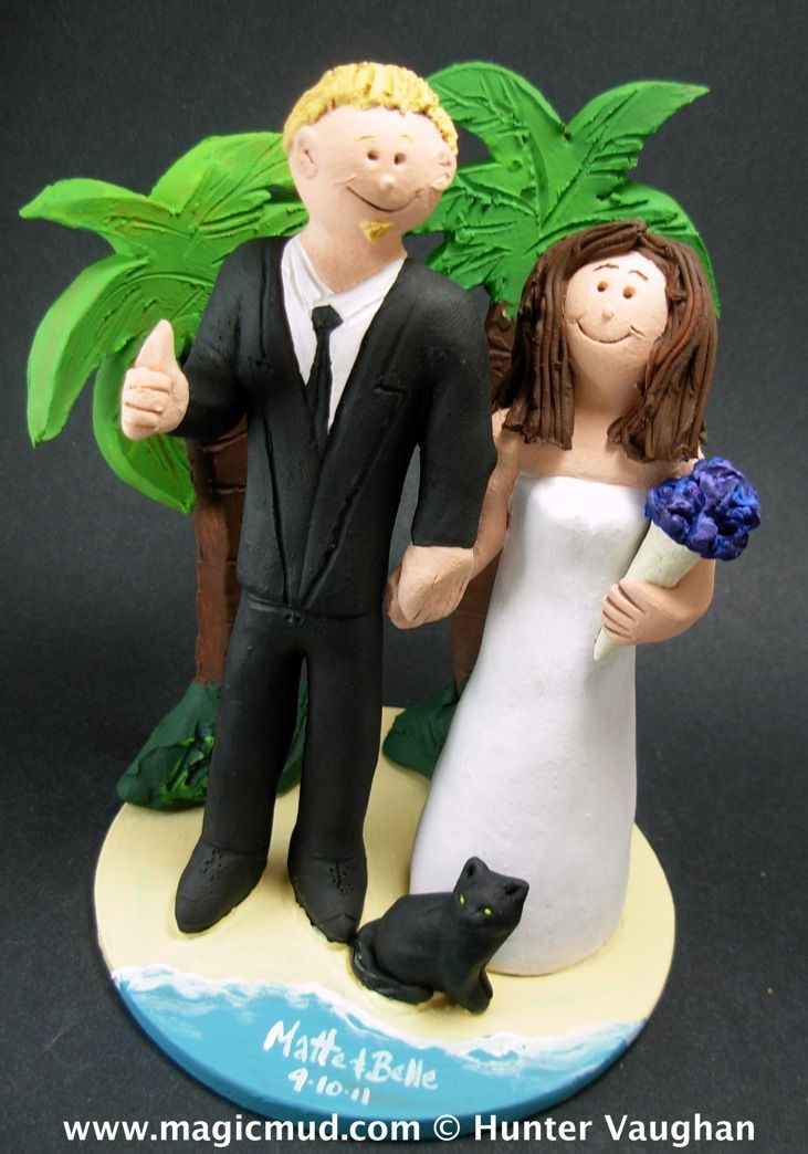 Beach with Palm Trees Wedding Cake Topper by www.magicmud.com 1 800 231 9814 mailto:magicmud@m... blog.magicmud.com twitter.com/... www.facebook.com/... #beach#beach_destination#surf#ocean#destination#hawaii#caribbean#mexico#wedding #cake #toppers #custom #personalized #Groom #bride #anniversary #birthday#weddingcaketoppers#cake toppers#figurine#gift#wedding cake toppers