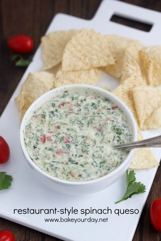 Restaurant-Style Spinach Queso