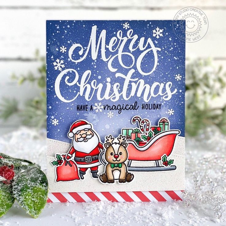 Santa Claus Lane Stamps in 2020 Seasons greetings card